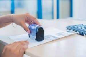 Формат легального бланка временной регистрации